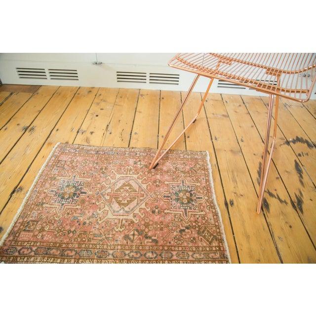 "Vintage Persian Karaja Square Mat - 2' x 2'5"" - Image 3 of 6"