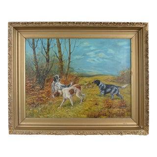 19th Century Oil on Canvas Hunting Scene