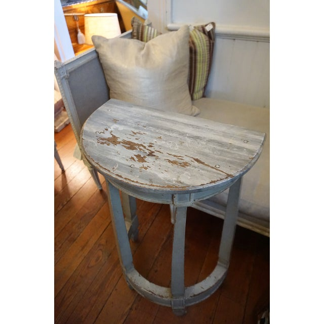 Gray 19th Century Petite Shabby Chic Gray Wood Console For Sale - Image 8 of 8