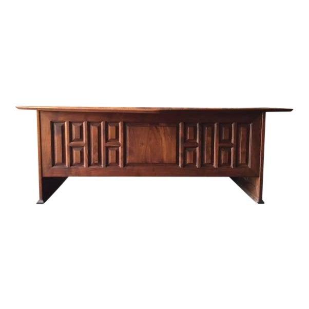 1970's Monteverdi Young Walnut Executive Desk - Image 1 of 9