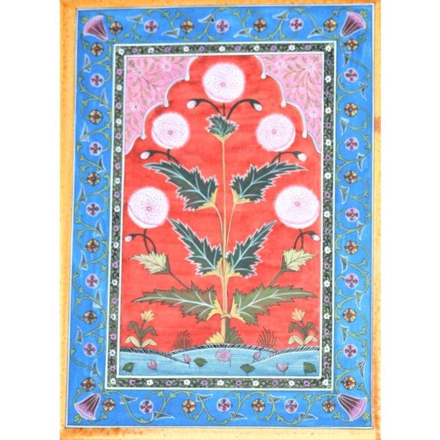 Bohemian Vintage Mughal Carpet Botanical Painting - Image 2 of 3