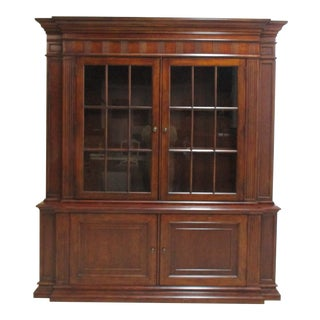 1990s Ethan Allen Kentmere Viola China Cabinet For Sale