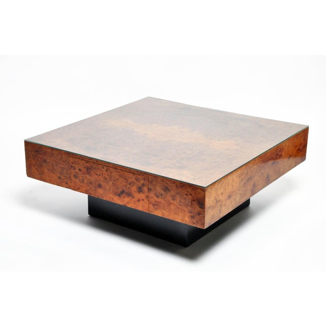 French Burl Wood Table With Two Drawers For Sale - Image 13 of 13