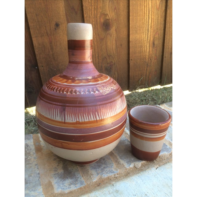 Vintage Mexican Water Jug & Cup - Image 7 of 8