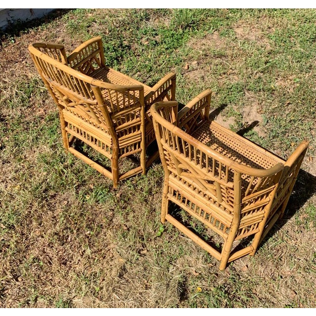 Antique Chinese Bamboo Chairs - A Pair For Sale - Image 10 of 13