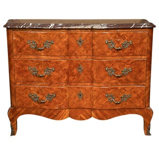 French Louis XV Style Tulipwood Commode For Sale