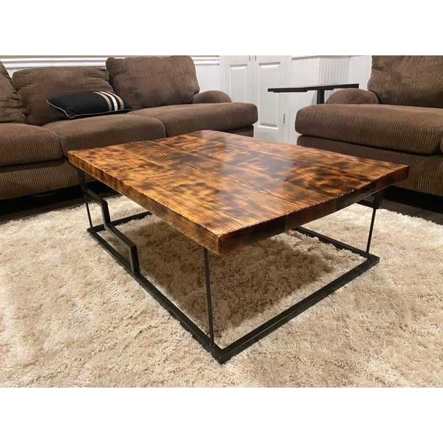 Modern Maple and Oak Wood Coffee Table For Sale In New York - Image 6 of 6