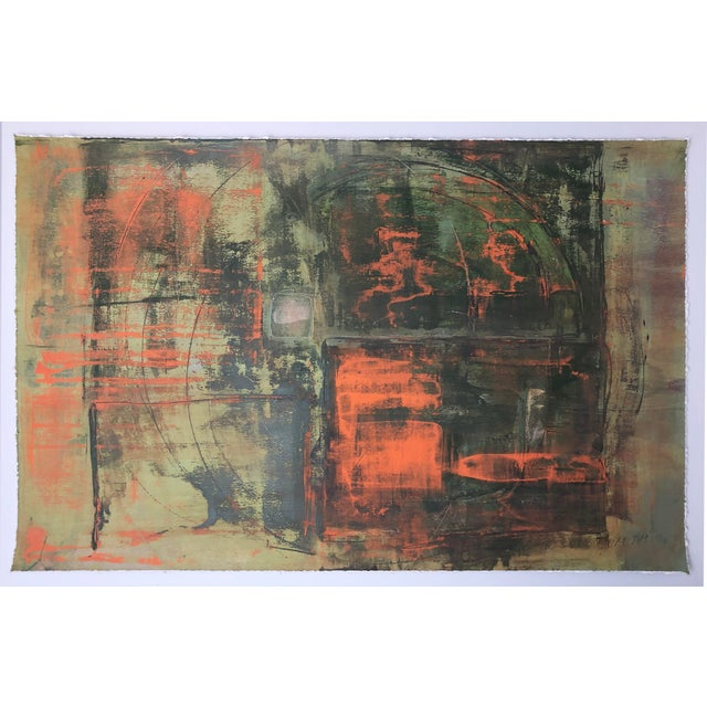 """2010s """"Static 219"""" Abstract Painting For Sale - Image 5 of 5"""