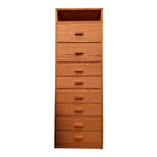 Slim Modernist Modular Cabinet / Chest of Drawers For Sale