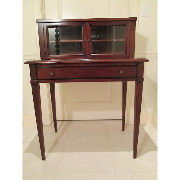 Modern Grange Writing Desk with Curio For Sale - Image 3 of 12