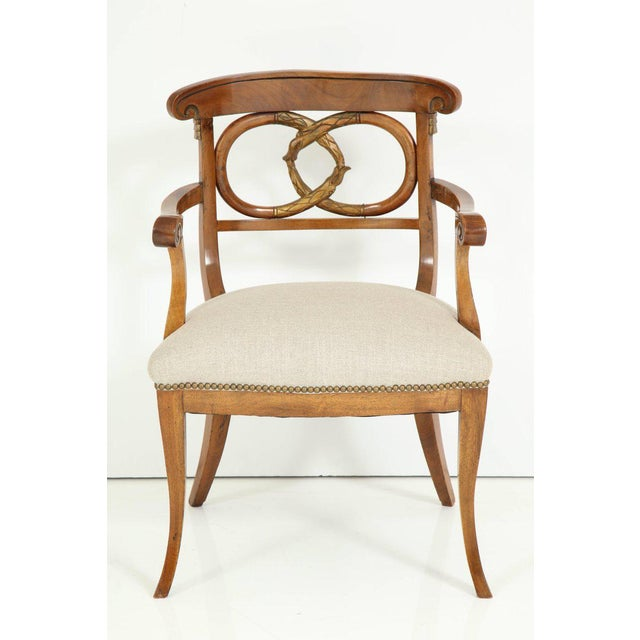 Pair of Biedermeyer Armchairs For Sale - Image 9 of 10