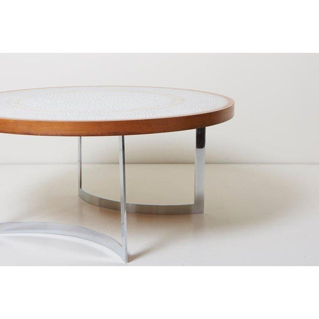 1960s Huge Mosaic Coffee Table by Berthold Müller, Germany, 1967 For Sale - Image 5 of 13