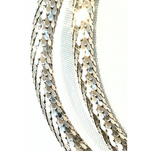 Metal 70's Silver Metal Mesh Coil Snake Whiting & Davis Necklace For Sale - Image 7 of 10