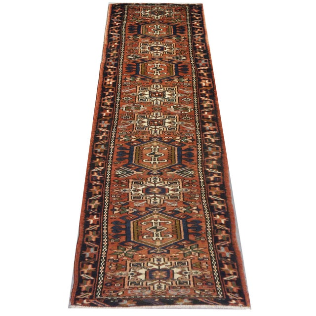 Islamic Vintage Persian Karaje Runner - 2.1 x 12.7 For Sale - Image 3 of 5