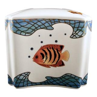 Designer Lynn Chase St. Tropez Nautical Tissue Holder For Sale