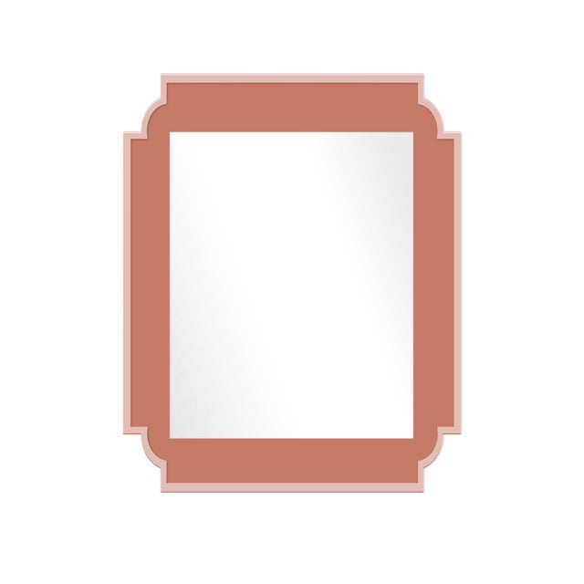 Contemporary Fleur Home x Chairish Camp Mirror in Red Earth, 24x36 For Sale - Image 3 of 3