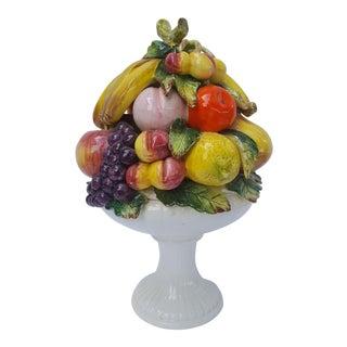 Vintage Majolica Capodimonte Fruit Topiary