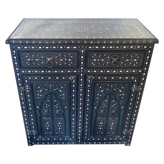 1920s Moroccan Commode, Chest, Cabinet or Sideboard With Arch Design For Sale