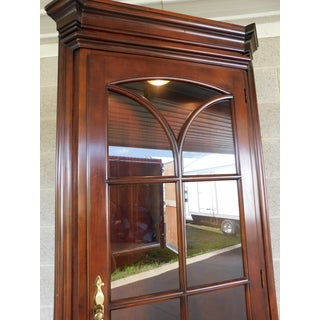 "Statton Oldtowne Cherry Chippendale Style 2 Door Lighted Corner Cabinet ""A"" Preview"