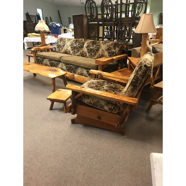Vintage 1930-1952 sought after C. Selden Belden Pinecraft furniture. Sofa is in fabulous condition . Box spring 8 way hand...
