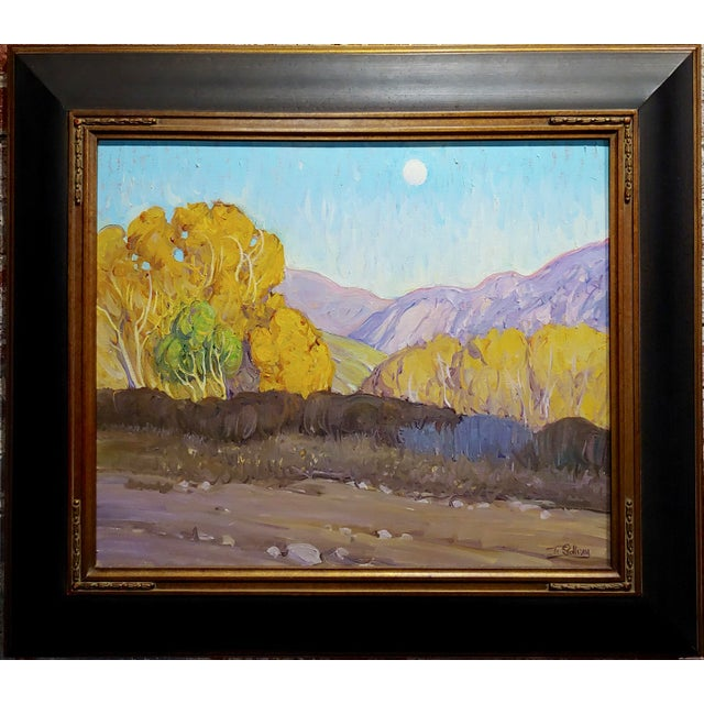 "Tim Solliday -Beautiful Fall California Landscape - Oil painting Oil painting on canvas -Signed frame size 33 x 29"" canvas..."