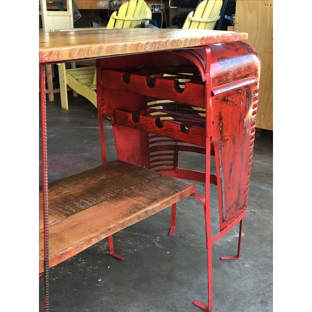Rustic Tractor Table Wine Cabinet - Image 6 of 6