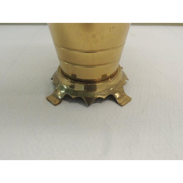 Hollywood Regency Brass Ginger Jar Table Lamp - Image 3 of 5