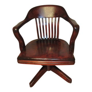 Mission Style Solid Walnut Office Chair
