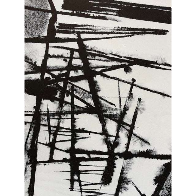 Jerry Opper Mid Century Abstract Stone Lithograph For Sale - Image 9 of 10