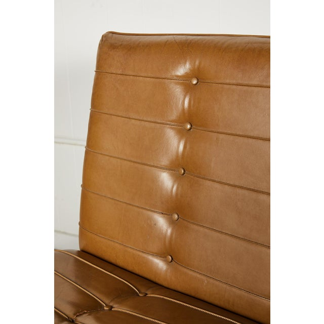 Camel Pair of Midcentury Lounge Chairs For Sale - Image 8 of 13