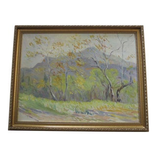 Mary Sauter Painting Antique Early California Impressionist Dehesa Valley 1940 For Sale