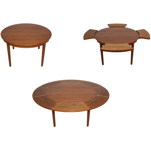 """Dyrlund """"Flip-Flap"""" Lotus Dining Table For Sale"""