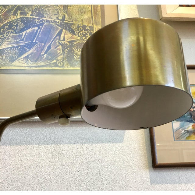 Mid-Century Modern Vintage Casella Brass Reading Floor Lamp Mid Century Modern For Sale - Image 3 of 7