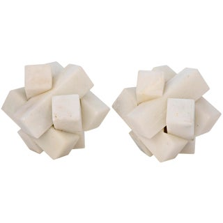Cube Puzzle, Set of 2, White Stone For Sale