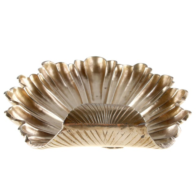 Handcrafted Solid Brass Seashell Bowl / Catchall For Sale - Image 4 of 7