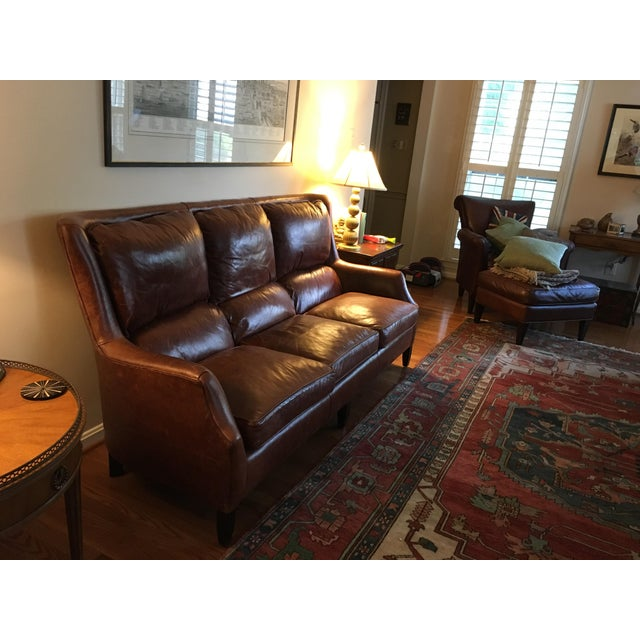 Arhaus Alex Leather Sofa For Sale - Image 5 of 5