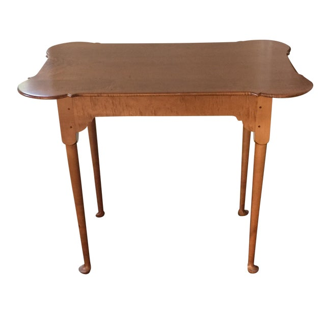 18th C. Antique Reproduction Wood Side Table - Image 1 of 4