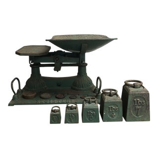 Iron English Grocery Scale & Iron Weights For Sale