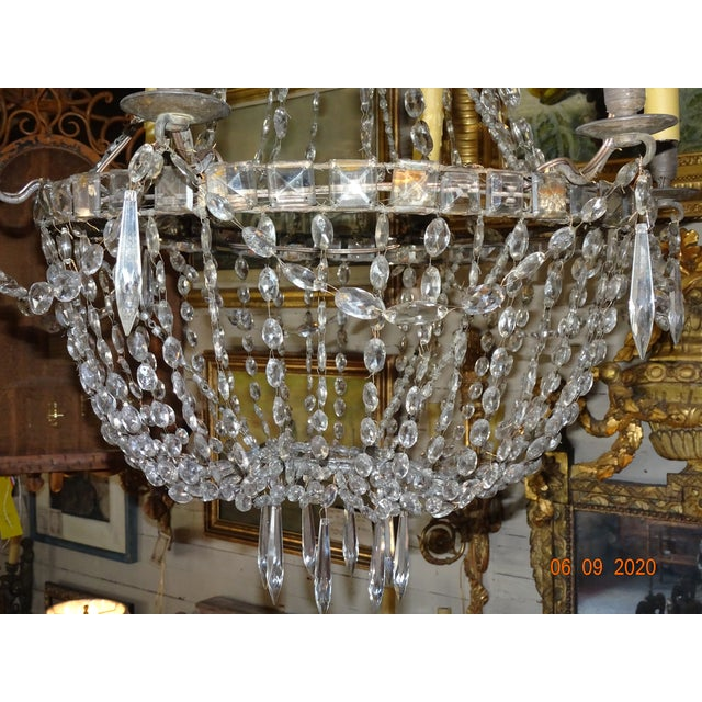Late 18th Century 18th Century Empire Crystal Chandelier For Sale - Image 5 of 13