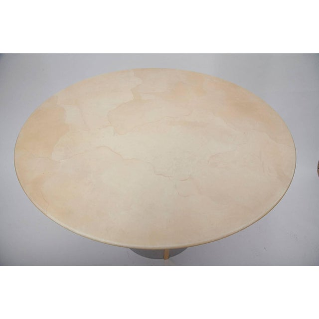 Mid-Century Modern 1970's Parchment Center Table For Sale - Image 3 of 10