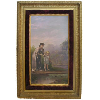 Victorian Mother & Child Painting