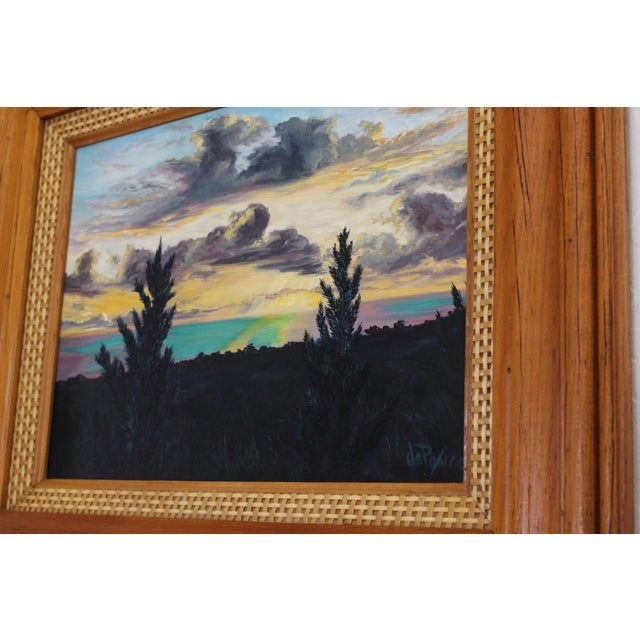 John De Ponce Hawaiian Sunset Landscape Painting - Image 6 of 11