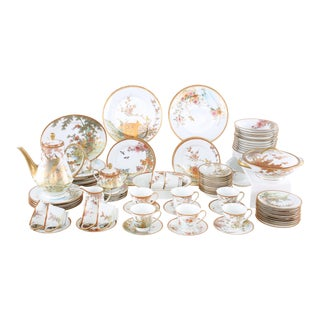 Late 20th Century Japanese Porcelain Dinner Service - 68 Pieces For Sale
