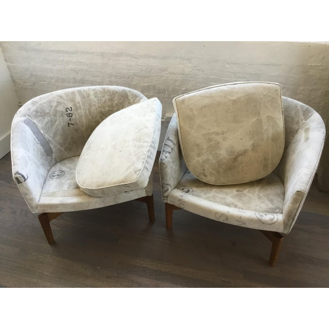 Mid Century Modern Jens Risom Club Lounge Chairs - a Pair For Sale - Image 10 of 13
