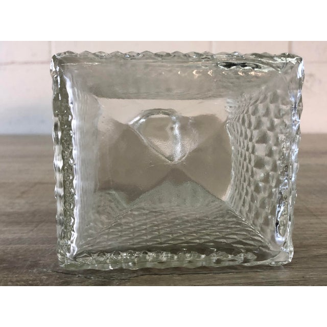 Vintage Diamond Point Glass Decanter For Sale - Image 9 of 10