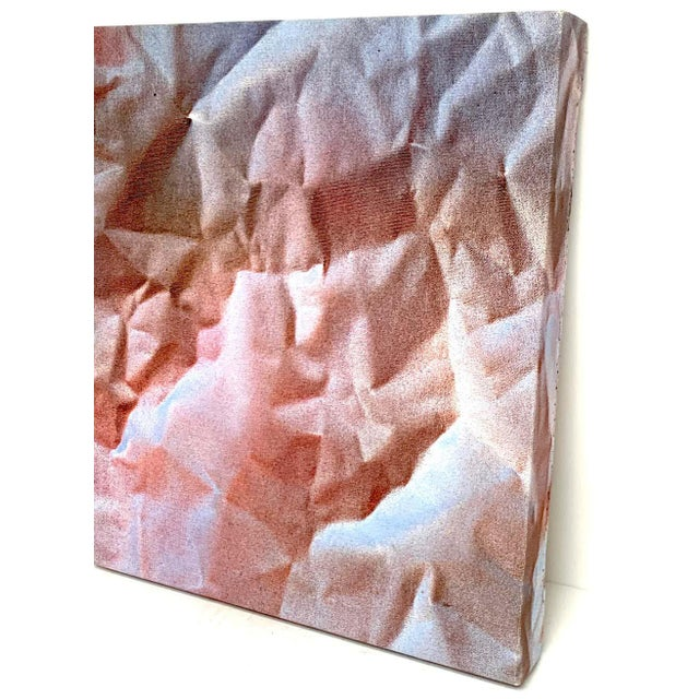 Modern Modern Trompe-l'Oeil Crumbled Paper Oil Painting, Herb Phillips, 1995 For Sale - Image 3 of 6