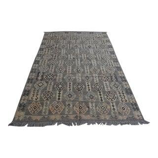 Afghan Tribal Handwoven Kilim Rug For Sale