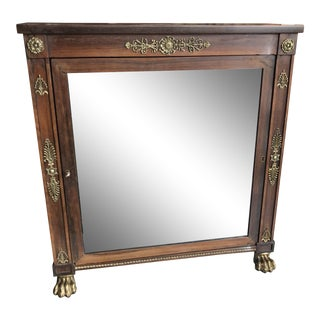 19th Century Regency Style Rosewood Cabinet For Sale