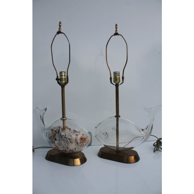 Blencko Art Glass Fish Table Lamps - A Pair - Image 6 of 11