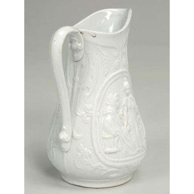 """English Staffordshire Pitcher """"Old Mother Hubbard"""" For Sale - Image 4 of 11"""